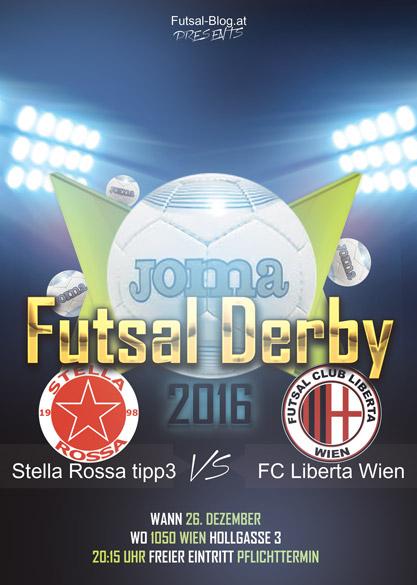 Flyer Wiener Futsal Derby